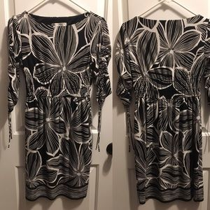 Maggy London Petites 6P black and white dress